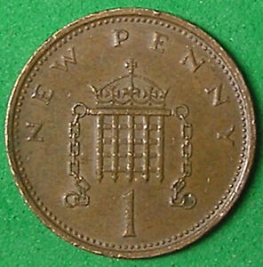 1 COIN FROM GREAT BRITAIN.  1 PENNY.  1974.