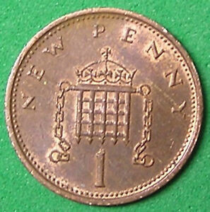 1 COIN FROM GREAT BRITAIN.  1 PENNY.  1976.