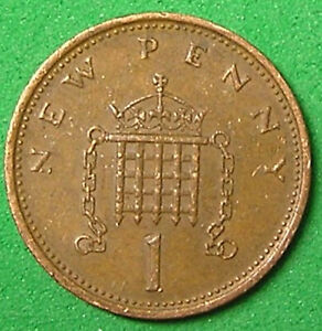1 COIN FROM GREAT BRITAIN.  1 PENNY.  1977.