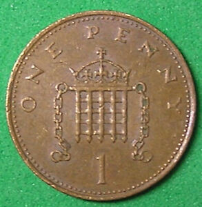 1 COIN FROM GREAT BRITAIN.  1 PENNY.  1982.