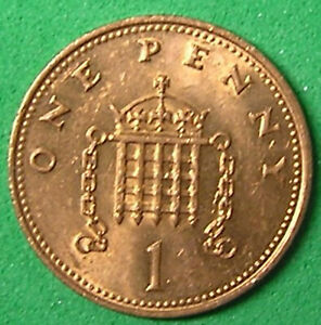1 COIN FROM GREAT BRITAIN.  1 PENNY.  1986.