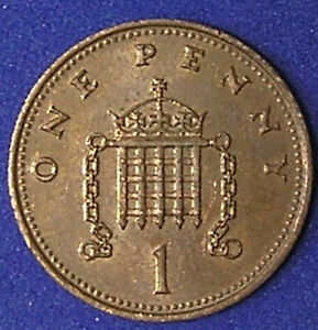 1 COIN FROM GREAT BRITAIN.  1 PENNY.  1987.
