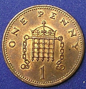 1 COIN FROM GREAT BRITAIN.  1 PENNY.  1991.