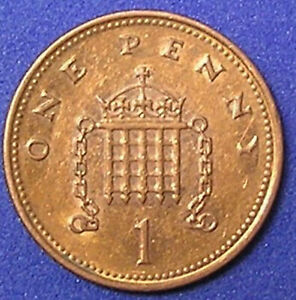 1 COIN FROM GREAT BRITAIN.  1 PENNY.  2001.
