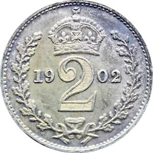 1902 2 PENCE EDWARD VII MAUNDY ISSUES SILVER COIN  MO1337