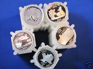 Click now to see the BUY IT NOW Price! 2004 S SILVER 50 STATEHOOD QUARTER GEM DCAM PROOF SET OF 5 ROLLS