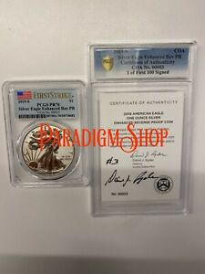 Click now to see the BUY IT NOW Price! 2019 S ENHANCED REVERSE PROOF SILVER EAGLE PCGS PR70 SIGNED COA 00003
