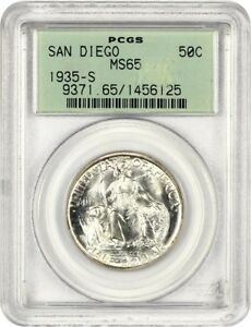 Click now to see the BUY IT NOW Price! 1935 S SAN DIEGO 50C PCGS MS65  OGH  SILVER CLASSIC COMMEMORATIVE