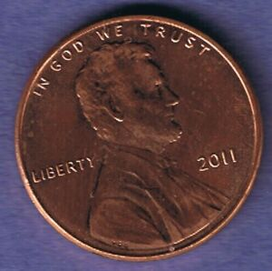 2011 P LINCOLN SHIELD ONE CENT PENNY COIN AU CONDITION