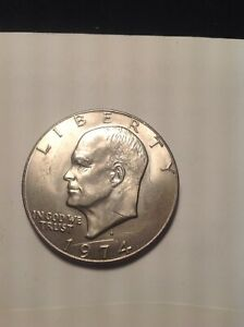 1974D CIRCULATED EISENHOWER DOLLAR/ BUT STILL IN XF CONDITION