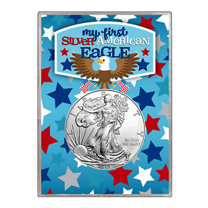 2010 $1 AMERICAN SILVER EAGLE GIFT HOLDER   FIRST SILVER EAGLE DESIGN