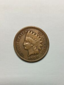 1  1907 INDIAN HEAD PENNY