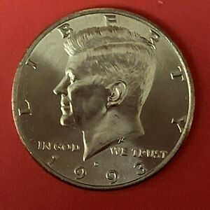 1993 D KENNEDY HALF DOLLAR GEM BU BRILLIAN UNCIRCULATED