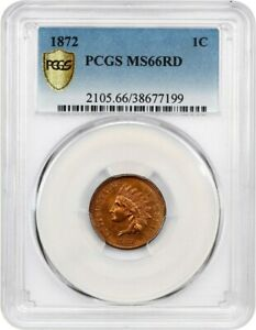 Click now to see the BUY IT NOW Price! 1872 1C PCGS MS66 RD   REGISTRY QUALITY KEY DATE   INDIAN CENT