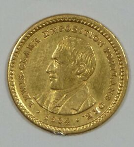 BARGAIN 1904 LEWIS & CLARK EXPO COMMEMORATIVE GOLD $1 ALMOST UNCIRCULATED
