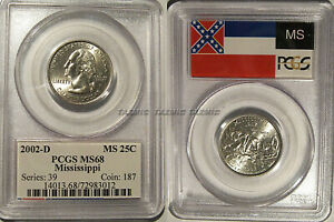 Click now to see the BUY IT NOW Price! 2002 D MISSISSIPPI STATE QUARTER 25C PCGS MS68 FLAG HOLDER