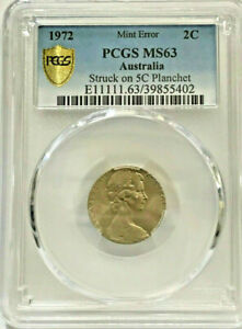 Click now to see the BUY IT NOW Price! FINEST KNOWN   ERROR 1972  2 CENT STRUCK ON 5 CENT  PCGS  MS63 CHOICE UNC
