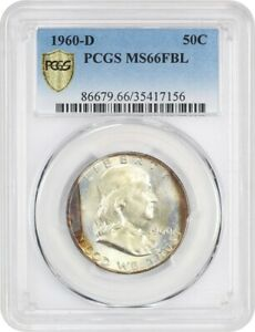 Click now to see the BUY IT NOW Price! 1960 D 50C PCGS MS66 FBL   STRIKING    FRANKLIN HALF DOLLAR   STRIKING