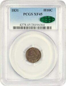 1831 H10C PCGS/CAC XF45   EARLY HALF DIMES