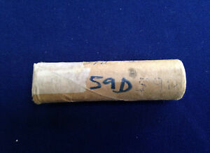 1959 D ROOSEVELT SILVER DIMES ORIGINAL BANK WRAPPED ROLL OF 50 COINS E4818