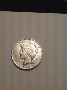 1923 P $1 SILVER PEACE DOLLAR US COIN DENVER MINT IN VF/XF CONDITION.