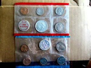 ORIGINAL GENUINE 1968 P&D U.S. MINT SET ISSUED BY U.S. MINT IN UNOPENED SLEEVES