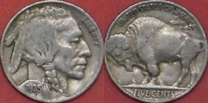 FINE 1935P US BUFFALO 5 CENTS