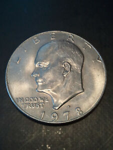 1978 D EISENHOWER DOLLAR   NICE ABOUT UNCIRCULATED / UNCIRCULATED CONDITION