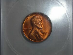 1953 S LINCOLN WHEAT CENT ICG MS66  RED UNC 1953S GEM RED BU