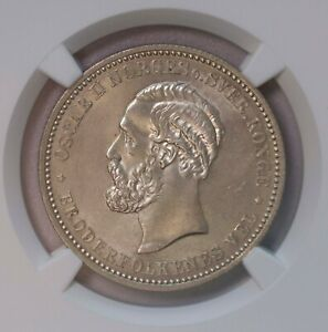 Click now to see the BUY IT NOW Price! NGC MS65 1902 NORWAY 2KRONER SILVER POP TOP GEM BU