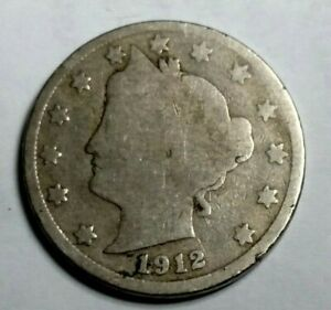 1912 D LIBERTY NICKEL G CONDITION COIN