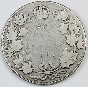 1906 CANADA / CANADIAN FIFTY CENTS HALF DOLLAR   G GOOD CONDITION
