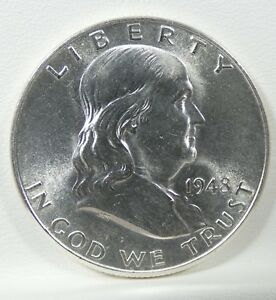 1948 D FRANKLIN HALF DOLLAR CHOICE BRILLIANT UNCIRCULATED SILVER 50C
