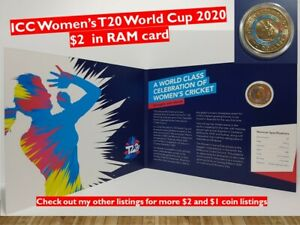 2020 ICC WOMEN'S T20 WORLD CUP COLOURED $2 IN RAM CARD