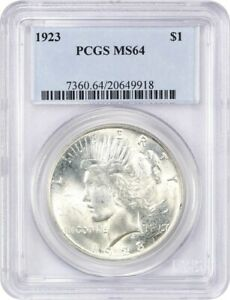 1923 $1 PCGS MS64   PEACE SILVER DOLLAR