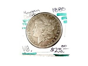1880  U.S.  MORGAN SILVER DOLLAR   VG      1867