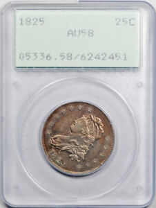Click now to see the BUY IT NOW Price! 1825 25C CAPPED BUST QUARTER PCGS AU 58 ABOUT UNCIRCULATED RATTLER HOLDER