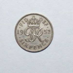 1952 SIX PENCE GREAT BRITAIN A HIGH VALUE COIN