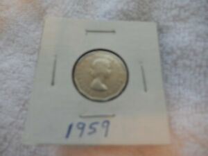 1959 CANADIAN NICKEL CIRCULATED   PERFECT FOR COIN BOOKS