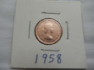1958 CANADIAN CENT CIRCULATED   PERFECT FOR COIN BOOKS