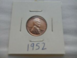 1952 LINCOLN CENT CIRCULATED   PERFECT FOR COIN BOOKS