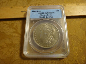 Click now to see the BUY IT NOW Price! 1882 O/S UNITED STATES MORGAN SILVER DOLLAR $1 AUTHENTIC ERROR ANACS