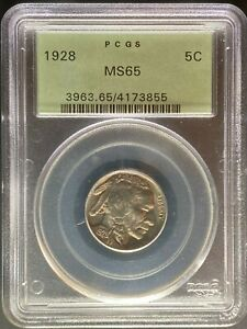 1928 BUFFALO NICKEL   PCGS MS65