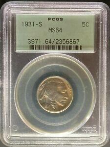 1931 S BUFFALO NICKEL   PCGS MS64
