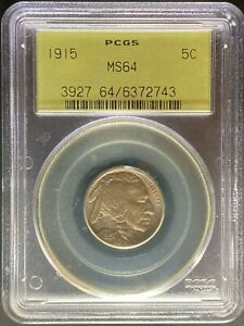 1915 BUFFALO NICKEL   PCGS MS64