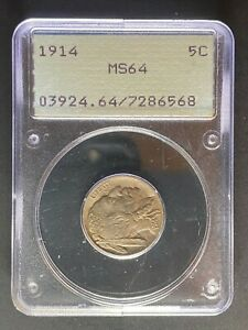1914 BUFFALO NICKEL   PCGS MS64