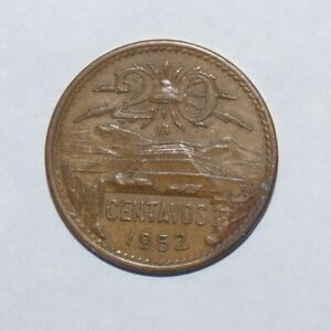 1952 20 CENTAVOS MEXICO HIGH VALUE COIN