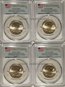 Click now to see the BUY IT NOW Price! 2018 P & D INNOVATION DOLLAR 1ST PATENT 4 COIN SET PCGS MS67 A & B FIRST STRIKE
