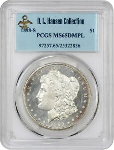 Click now to see the BUY IT NOW Price! 1898 S $1 PCGS MS65 DMPL EX: D.L. HANSEN   REGISTRY QUALITY DMPL