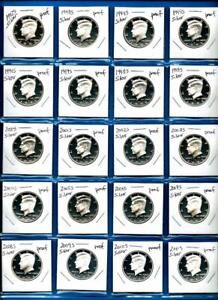 Click now to see the BUY IT NOW Price! 1992 S   2020 S SILVER PROOF KENNEDY HALF DOLLAR SET   29 COINS